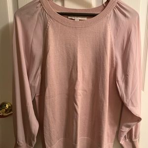 Loft Blush/Rose color with sheer sleeves